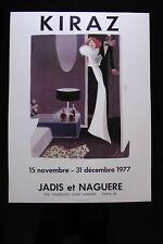 Affiche KIRAZ Galerie JADIS et NAGUERE 1977