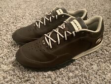 Oakley Enduro Spikeless Golf Shoes Golfing Show Brown Black Leather Tan Euc