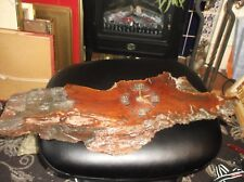 """LARGE RUSTIC LOG SECTION SLAB BATTERY WALL CLOCK 25.5"""" X 10"""" KIENZLE NOT WORKING"""