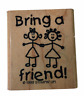 Stampin Up Rubber Stamp Bring A Friend 1999 Wood Mount Invite LRS77