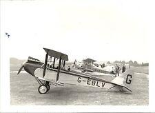 GABMR HAWKER HART VINTAGE AIRPLANE B&W PHOTOGRAPH.
