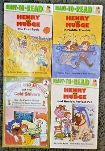HENRY & MUDGE READY TO READ LEVEL 2 READERS 4 READER LOT PAPERBACK FREE SHIP