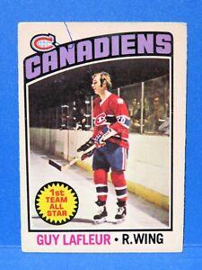 1976-77 O-Pee-Chee Hockey, GUY LAFLEUR, Card #163, Montreal Canadiens