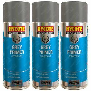 3 x Hycote Grey Primer Spray Paint Aerosol Car Multi-Purpose Preparation 400ml