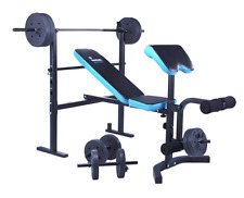 NEW Men's Health Folding Bench 35kg Weights Home Gym Equipment Fitness Benches
