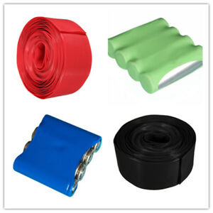85mm PVC Heat Shrink Tubing Tube Cable Wrap 1M 1000mm for 4 * 18650 Battery