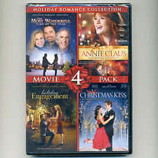 4 Holiday Romance movies, new DVDs Time, Annie Claus, Engagement, Christmas Kiss
