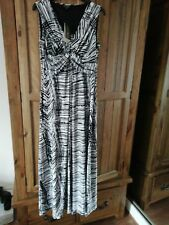 FIRST AVENUE ladies black n white maxi dress size 10, new with tags