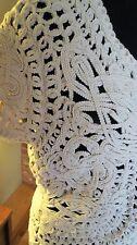 Coldwater Creek Ivory Crochet Lace Cotton Open Sweater Vest Jacket. 8