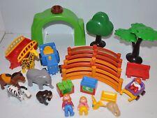 PLAYMOBIL 1-2-3 ZOO Playset various Parts & Pieces. Set #6754 w/ Animals