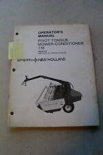New Holland 116 Haybine Mower Conditioner Operators Manual