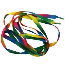 Paire de lacets multicolore - arc en ciel - 110cm - Rainbow multicoloured laces