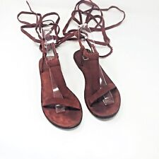 Free People Womens Size 36 Red Dahlia Lace Up Sandal