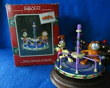 Enesco Ornament 1991 1992 1993 Garfield Merry Christmas Go-Round  In Box