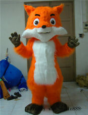 Adult Unisex Long Fur Fox Mascot Costume Suit Cosplay Fancy Dress Party Outfits