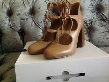 ALDO PREMIUM LEATHER ANKLE LACE UP HIGH HEEL SHOES TAN BROWN IMMAC 5 38  topshop
