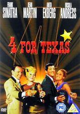 4 FOR TEXAS FRANK SINATRA DEAN MARTIN ANITA EKBERG URSULA ANDRESS WARNER DVD NEW