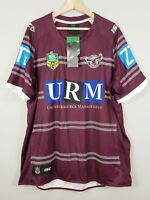 MANLY SEA EAGLES ISC Mens Size 3XL 2017 Home Rugby League Jersey NEW