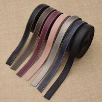 5M PU Leather Ribbon Fabric DIY Handmade Webbing Choker Hair Bow Sewing Material
