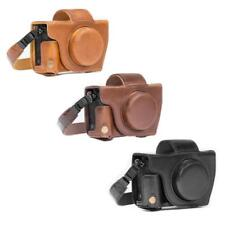"""MegaGear """"Ever Ready"""" Leather Camera Case for Canon PowerShot G5 X with Strap"""
