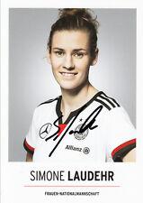 Simone Laudehr , DFB Karte, Frauen Nationalmannschaft original signiert/signed