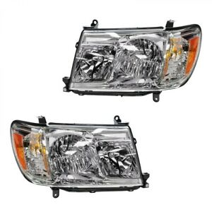 FIT TOYOTA LAND CRUISER 2006-2007 RIGHT LEFT HEADLIGHTS HEAD LIGHTS LAMPS PAIR