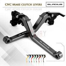 Aluminum Long Adjustable Brake Clutch Levers for SUZUKI SFV650 GLADIUS 09-15