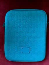 MICHAEL KORS Ipad Tablet Case Double Zip at Top Teal Blue