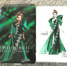 Mattel Emerald Embers Bob Mackie Barbie Doll The Jewel Essence Collection NEW