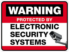 SECURITY ALARM PROTECTION AND SURVEILLANCE STICKER for windows/doors