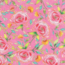 Moda Stephanie Ryan Fleurologie Floral Beauty Fabric in Pinkberry 7192-16