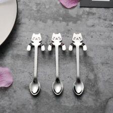 Lovely Cartoon Cat Stainless Steel Tea Coffee Spoon Ice Cream Cutlery Tableware