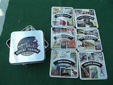 ATLAS EDITIONS SET OF SIX GREAT TRAINS OF THE WORLD COASTERS IN A TIN