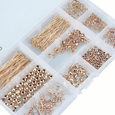 Jump Rings Ear Wires Hooks Lobster Clasp Spacer Beads For Jewelry Making Kit Set