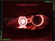 PMLIT 07-11 BMW X3 Pink G5.0 Angel-Eyes 32W LED Headlights Halo Bulbs