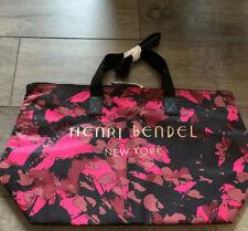 Henri Bendel Pink Black Camo Floral Tote NWT