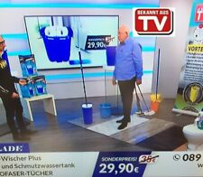 Wischmop TV Bodenwischer Set 360° Teleskopstiel 2in1 Hands Free Komfort-Mopp