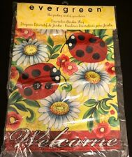 Evergreen Garden Lady Bug and Daisy Decorative Garden Flag Brand New Package