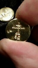 (5 GRAM BAR)USA BULLION 5g 22K PLACER FINE GOLD ROUND RIGHT FROM MINE APM #6G