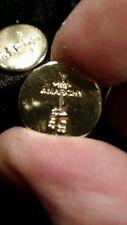 (5 GRAM BAR)USA BULLION 5g 22K PLACER FINE GOLD ROUND RIGHT FROM MINE APM #6G