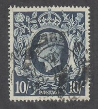 Great Britain Sc 251 used. 1942 10sh indigo Kgvi, fresh, sound.