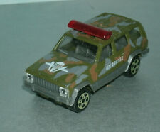 1/64 Scale 1980s Jeep Cherokee XJ Diecast Military Vehicle - Majorette 224 Camo