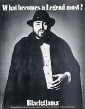 Blackglama Luciano Pavarotti Vintage advertising poster 1981 Mink Fur Coat 17x22