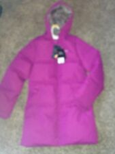 NEW! Trespass Tiffy Girl's Casual Long Jacket Size 11-12  Colour: Bubble Gum