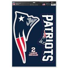 "New England Patriots 11"" x 17"" Multi Use Decals - Auto, Walls, Windows, Cornhole"