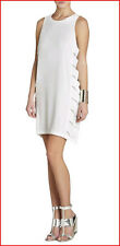 BCBG MAXAZRIA EREN WHITE CUT OUT SIDES SHORT DRESS size 0 NWT $198 -RackE/147