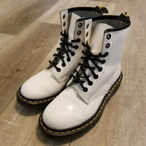 Dr. Martens Doc's 1460W White Patent Leather AirWair Bouncing Soles Womens US 6
