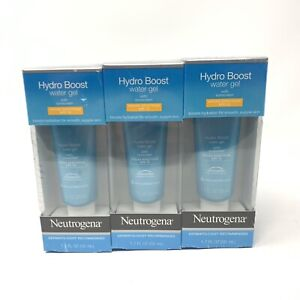 3x Neutrogena Hydro Boost Water Gel with Sunscreen 1.7oz ea tube EXP: 8/20