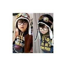 Cute Baby Toddler Boy Girl Kids Pilot Aviator Cap Warm Hats Earflap Beanie my10
