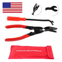2 Pcs/set Car Door Panel And Trim Clip Removal Pliers Upholstery Tool